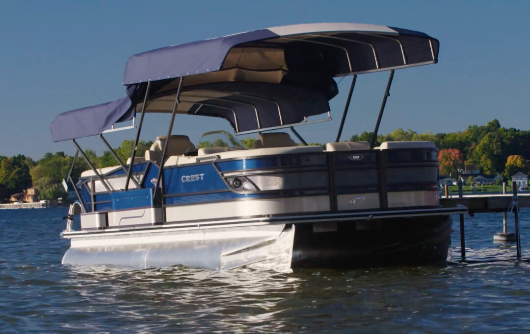 Easy Cover Automatic Pontoon Boat Cover System
